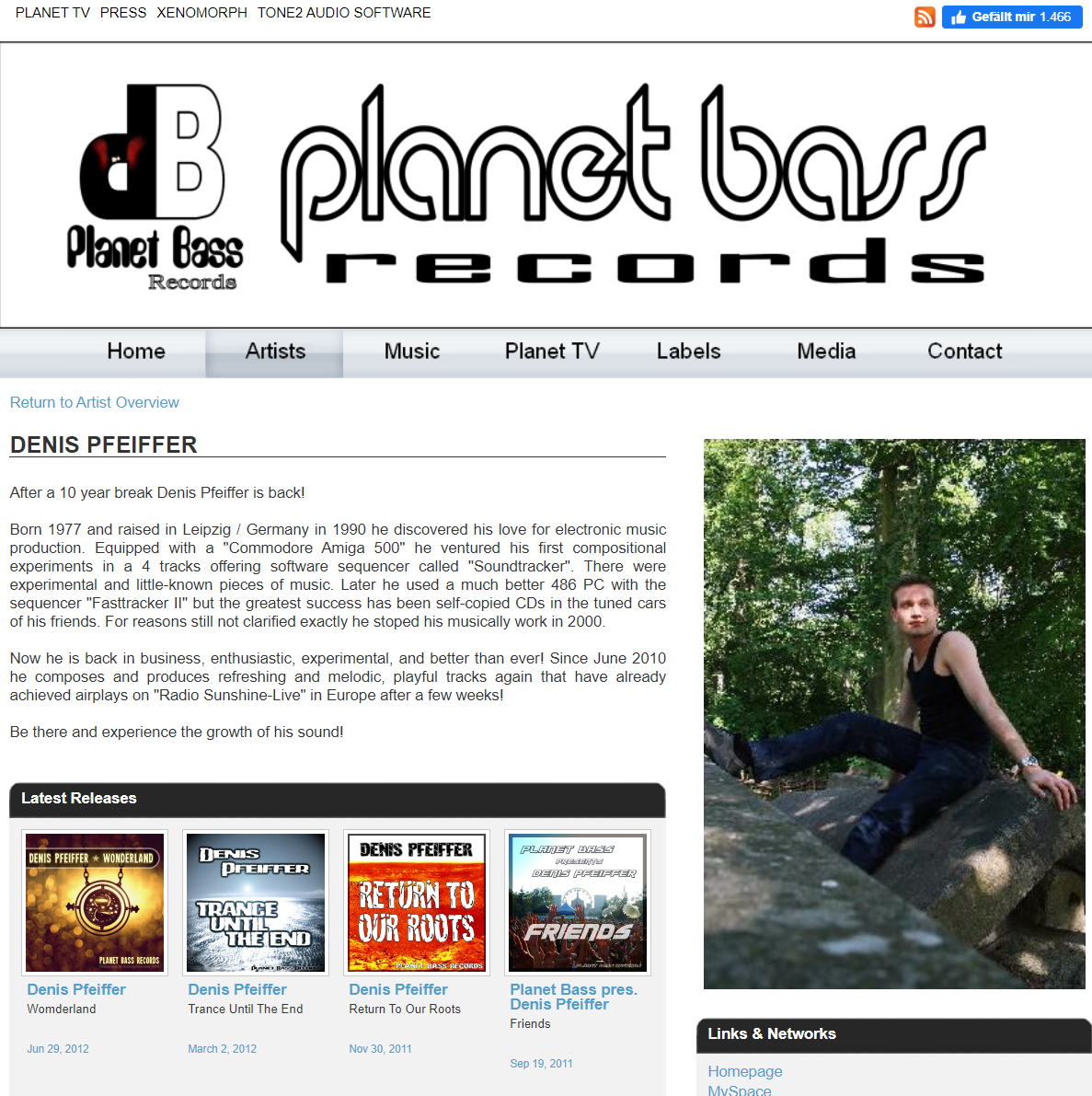 Denis Pfeiffer goes to Planet Bass Records
